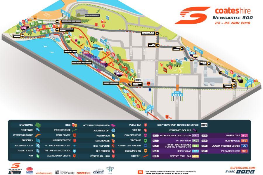 Newcastle Street Circuit map