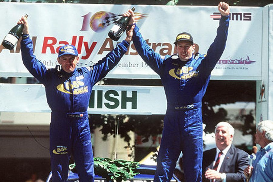 Nicky Grist and Colin McRae at 1997 Rally Australia