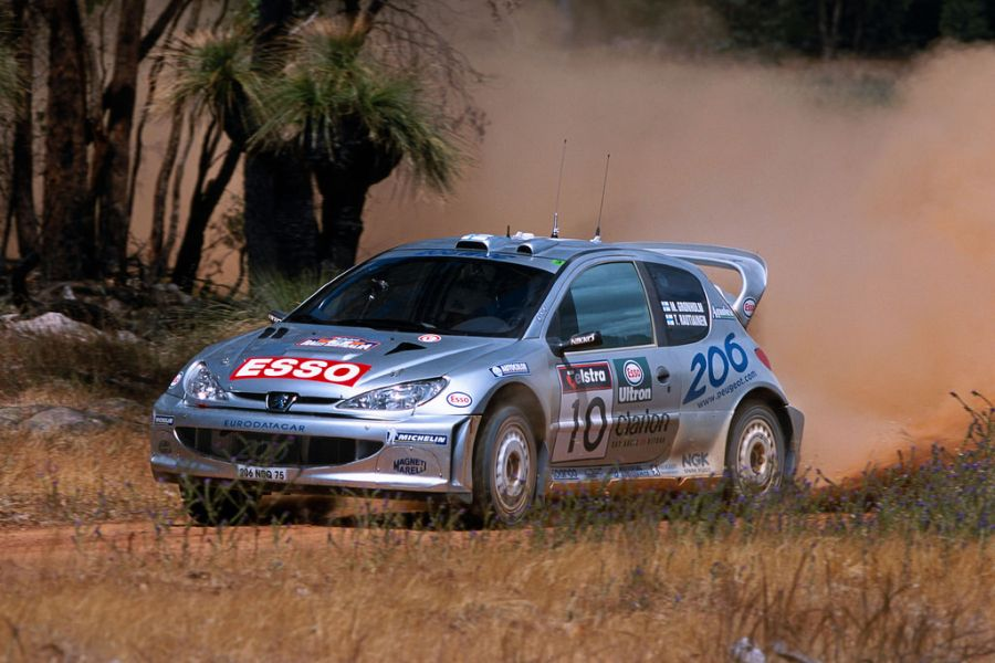 Marcus Gronholm's #10 Peugeot 206 WRC at 2000 Rally Australia