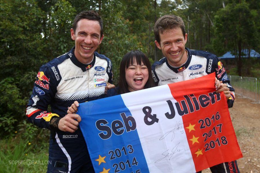 Julien Ingrassia Sebastien Ogier 2018 champions