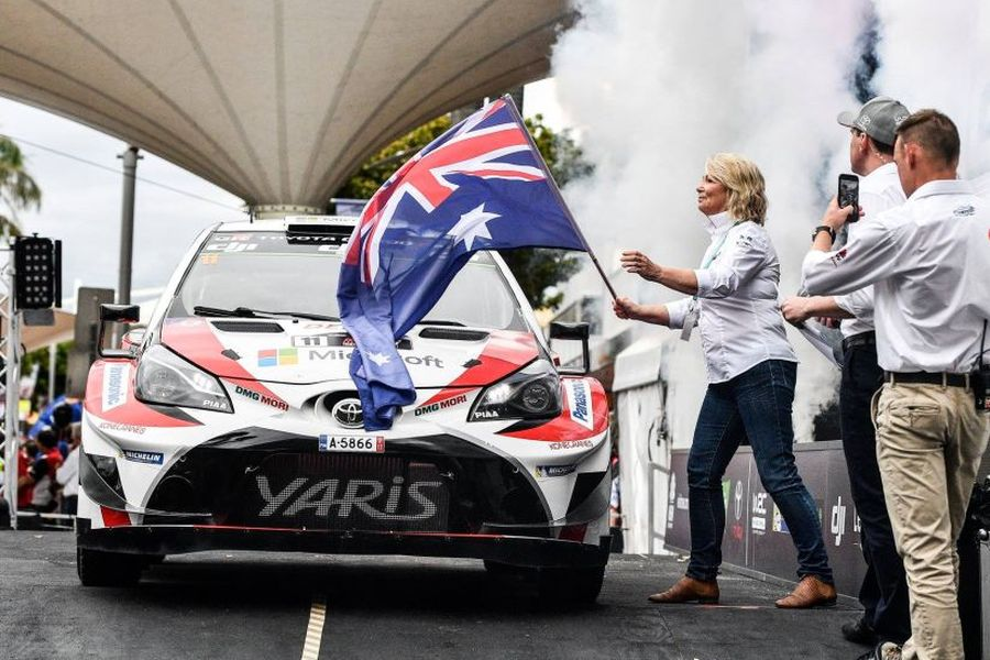 Rally Australia starting ceremony