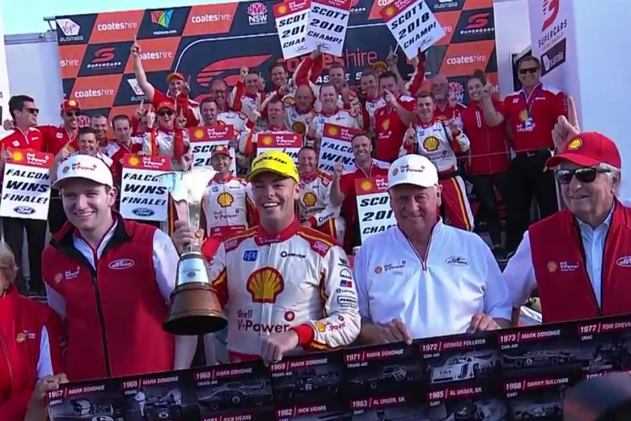 Scott McLaughlin (DJR Team Penske), 2018 Supercars champion