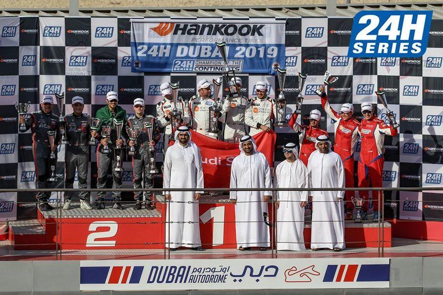 24h Dubai, podium