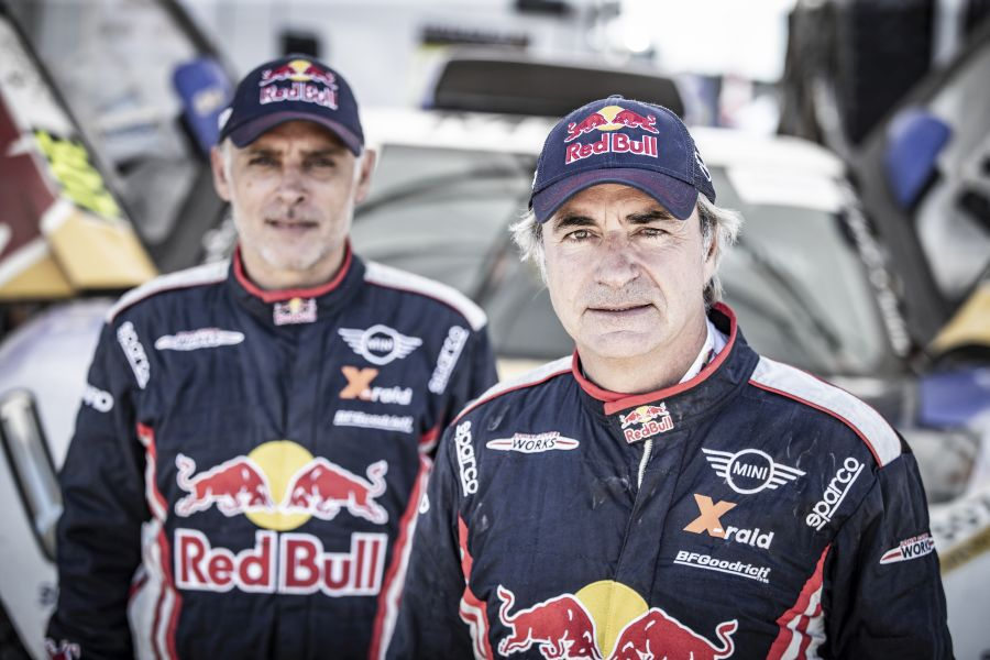 Last year's winner Carlos Sainz and his navigator Lucas Cruz joined X-Raid Team