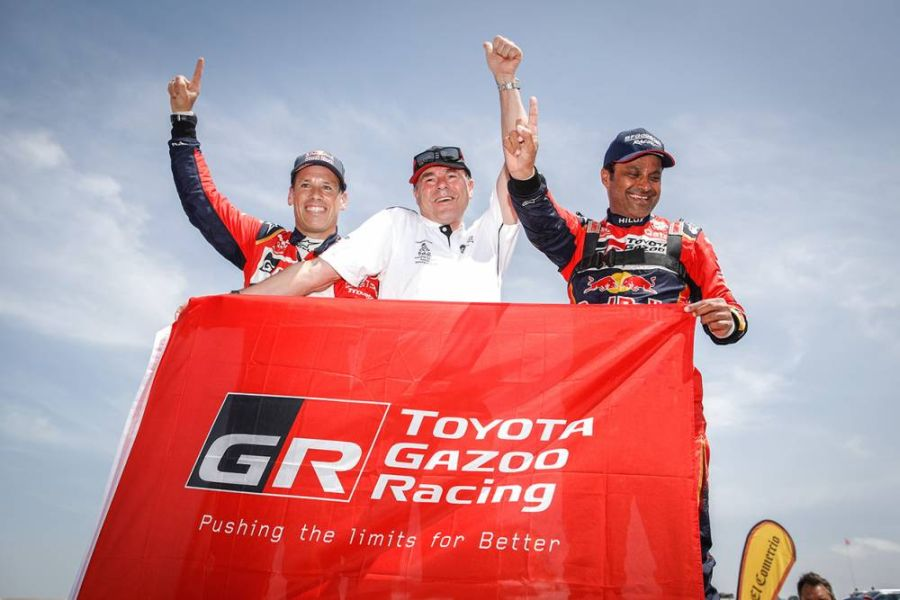 2019 Dakar Rally, Nasser Al Attiyah, Matthieu Baumel, Toyota Gazoo Racing