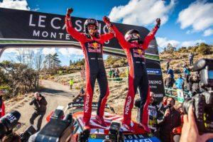 2019 Rallye Monte Carlo winners Sebastien Ogier and Julien Ingrassia