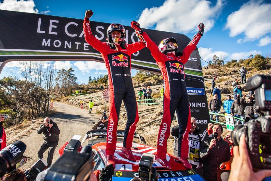 2019 Rallye Monte Carlo winners Sebastien Ogier and Julien Ingrassia