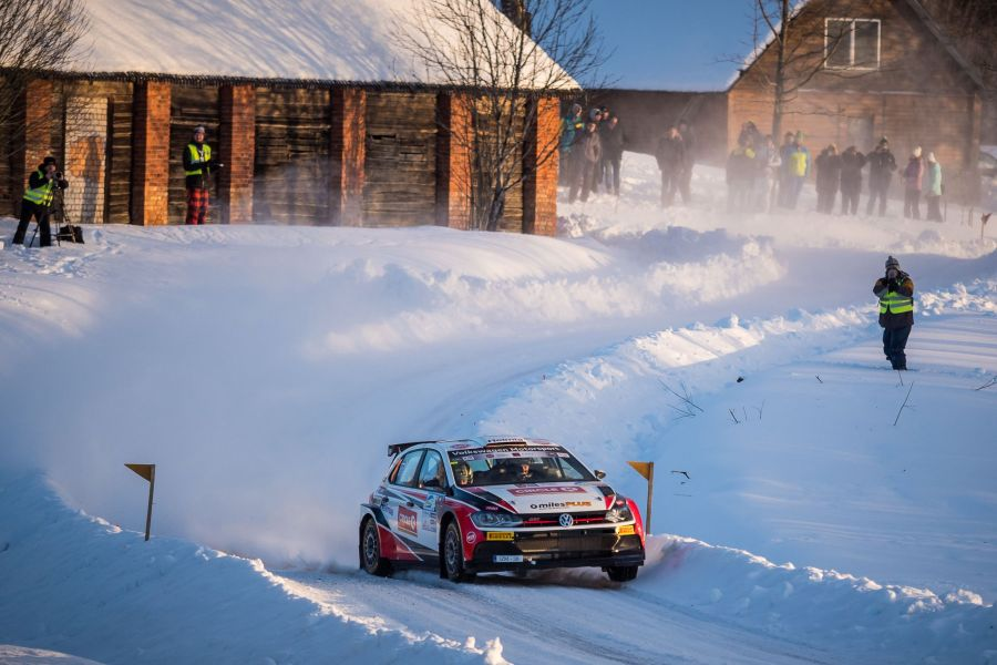 Oliver Solberg at Rally Aluksne