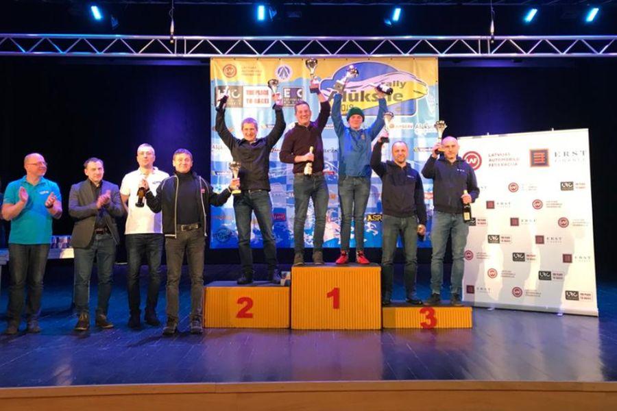 2019 Rally Aluksne podium