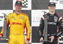 Ryan Hunter-Reay and Josef Newgarden