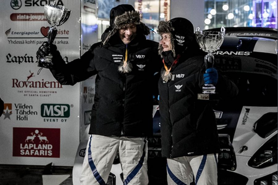 Timo Rautiainen and Valtteri Bottas at Arctic Lapland Rally