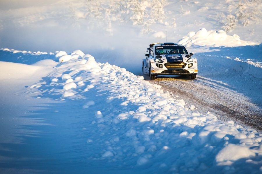 Valtteri Bottas at Arctic Lapland Rally