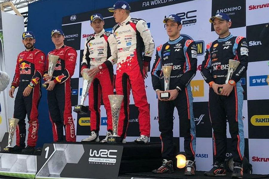 2019 Rally Sweden podium