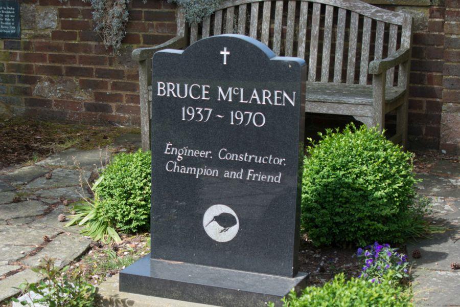 Bruce McLaren 1937 - 1970, memorial garden