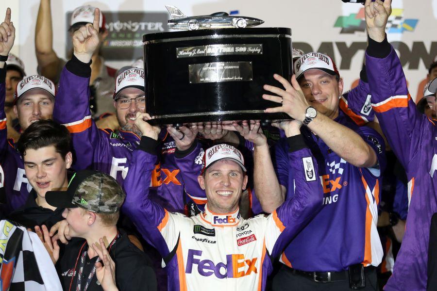 Denny Hamlin wins the 61st Daytona 500