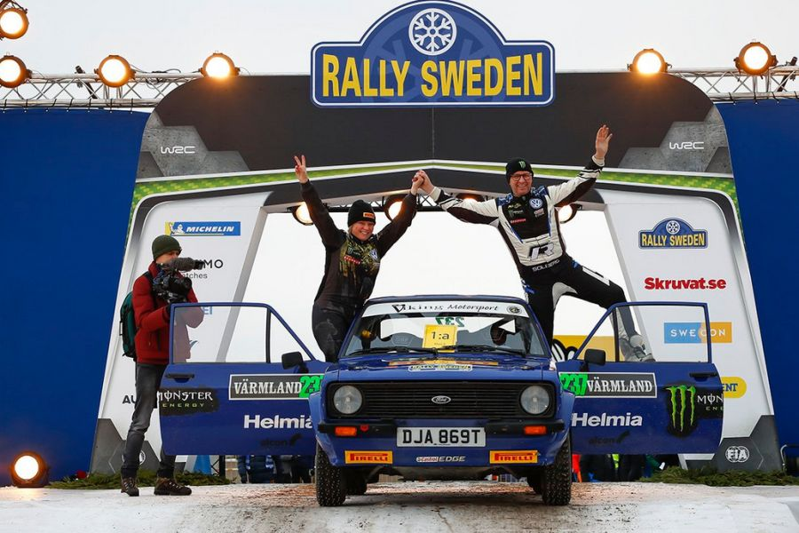 Peter and Pernilla Solberg have won Rally Sweden Historic