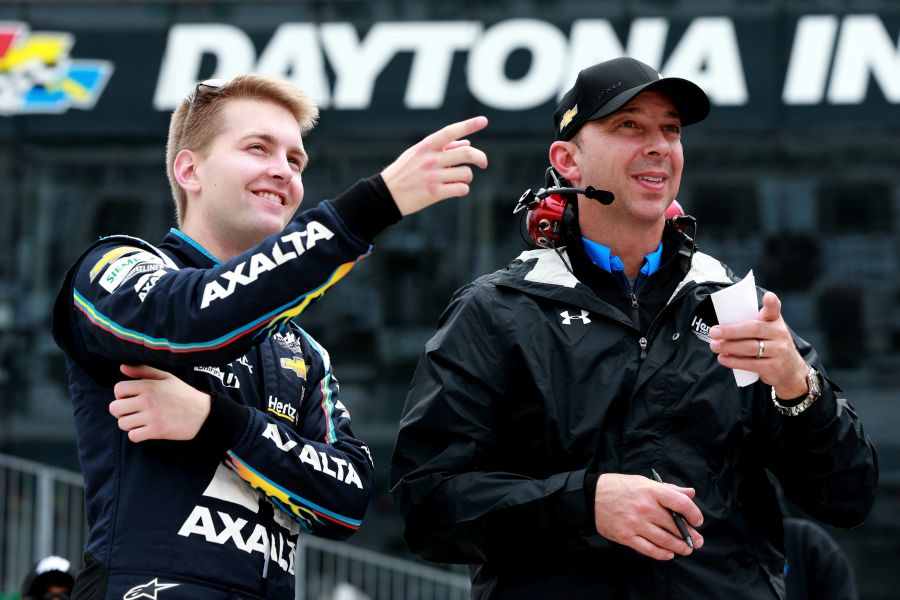 William Byron and his crew chief Chad Knaus