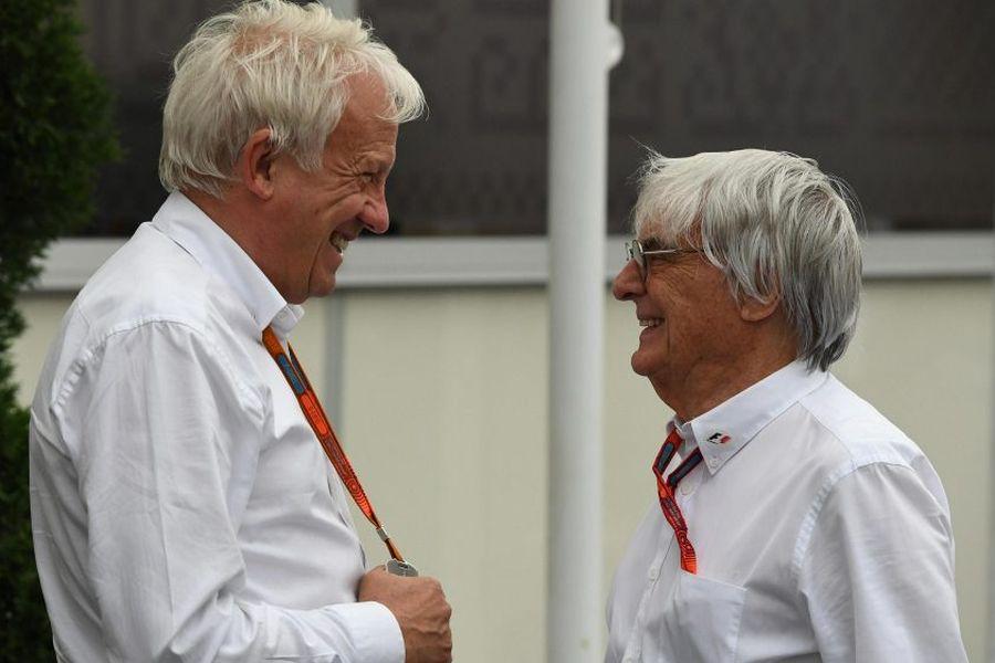 Charlie Whiting and Bernie Ecclestone