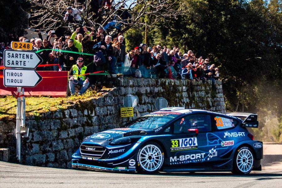 Elfyn Evans M-Sport Ford Fiesta WRC, Tour de Corse