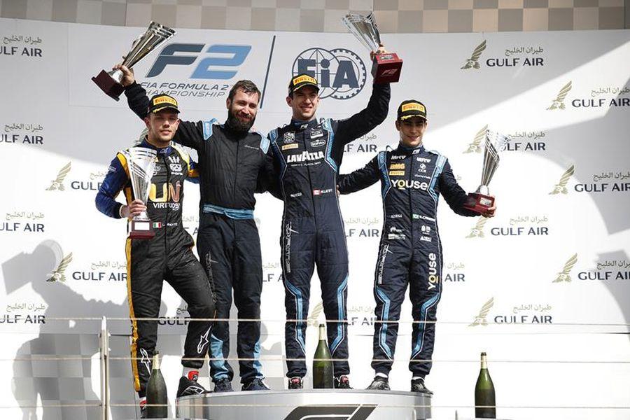 Formula 2 Bahrain race 1 podium