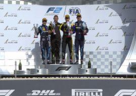 Formula 2 Bahrain race 2 podium