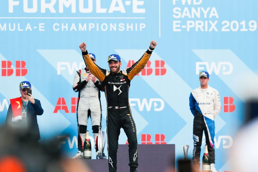Formula E Sanya ePrix podium