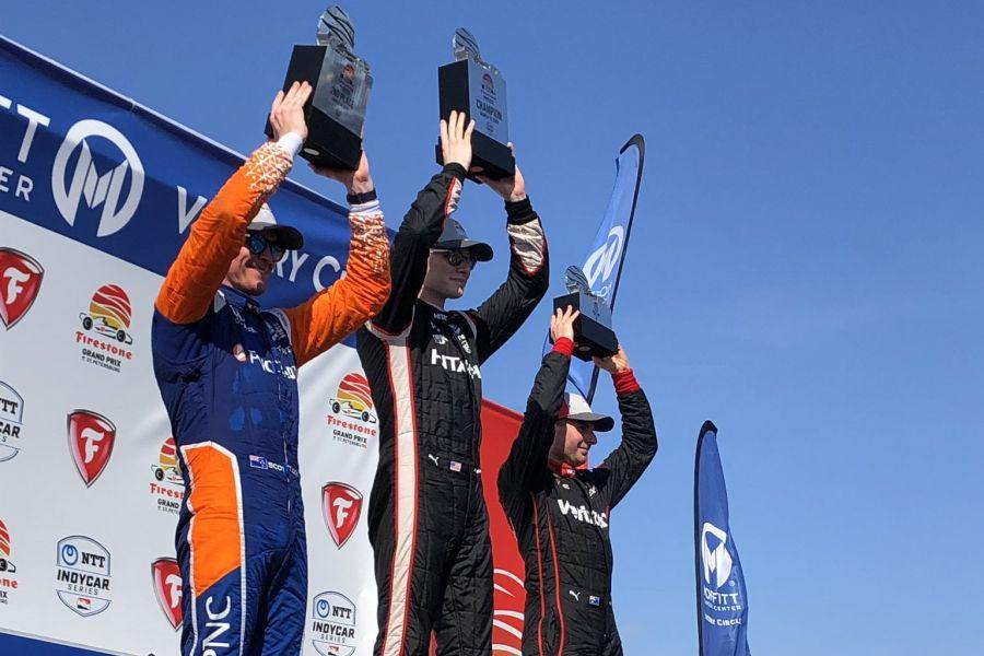IndyCar StPete podium