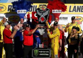 Joey Logano wins at Las Vegas
