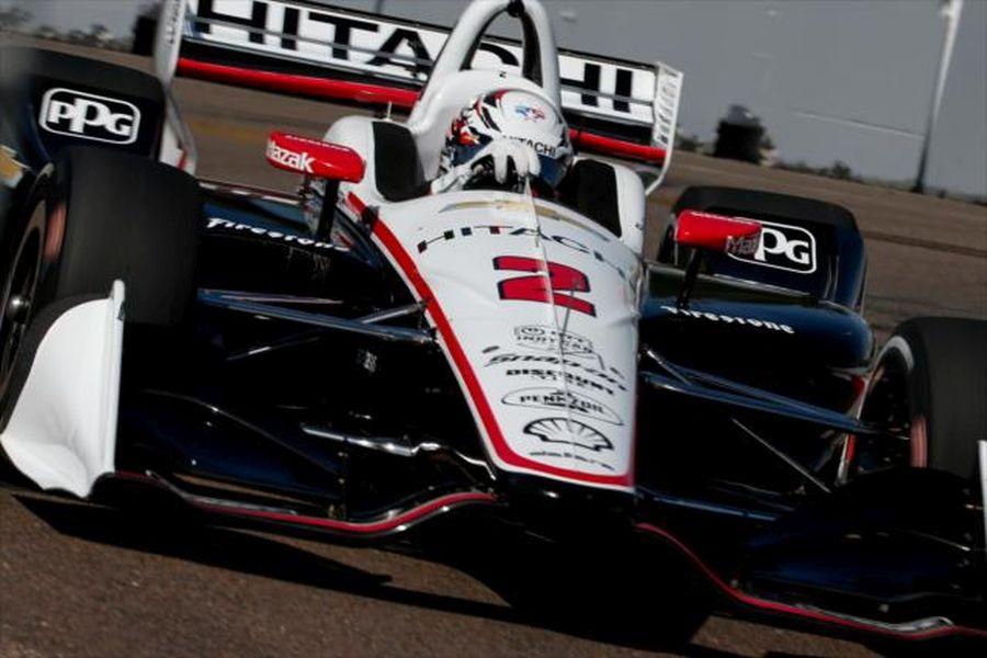 Josef Newgarden in the #2 Chevrolet of Team Penske