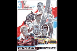 2019 Motorsports Hall of Fame poster