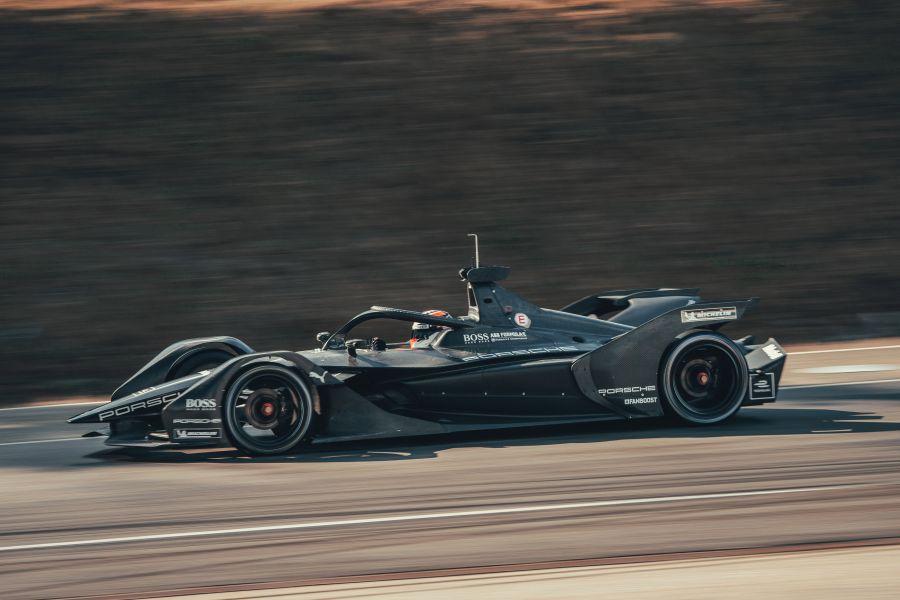 Porsche Formula E car at Weissach