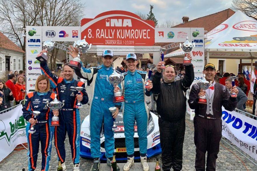 Rally Kumrovec podium