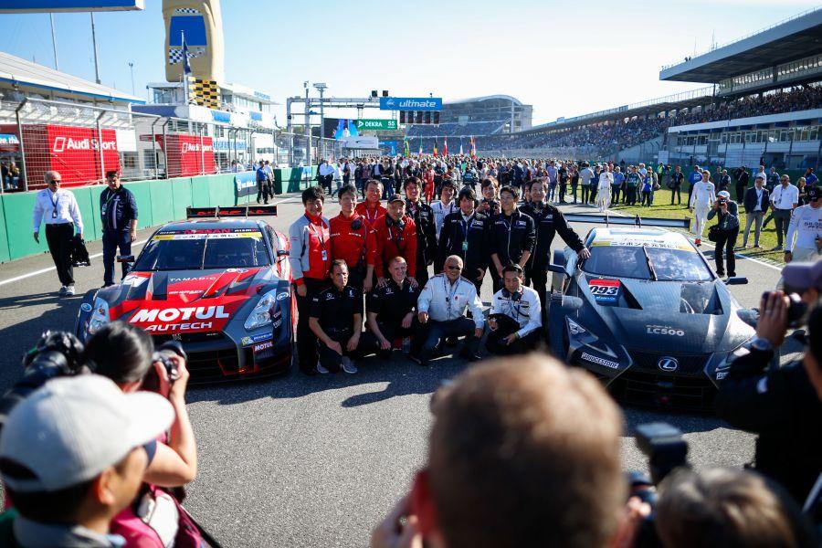 Super GT cars at Hockenheim in 2017