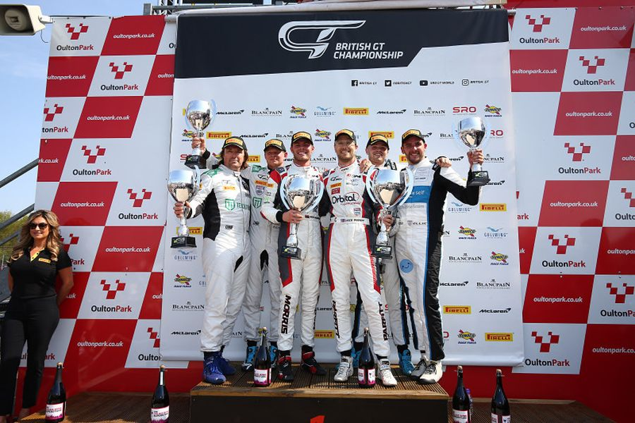 British GT Oulton Park Race 1 podium