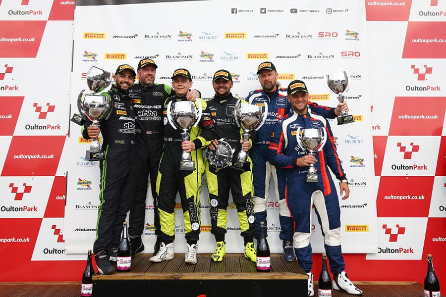 British GT Oulton Park Race 2 podium