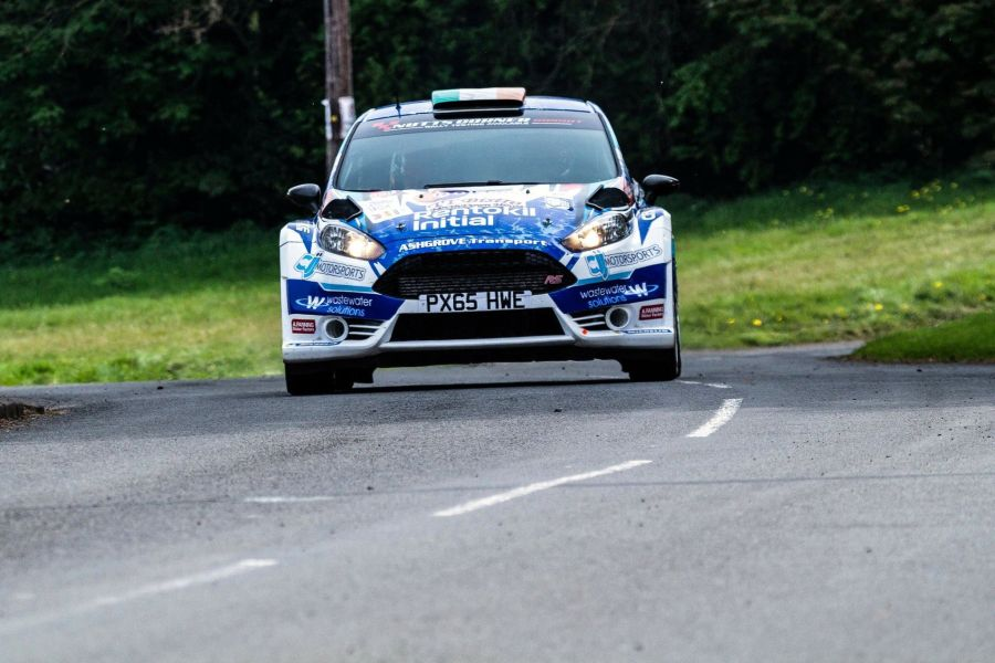 Craig Breen in the #1 Ford Fiesta R5 at Easter Stages Rally