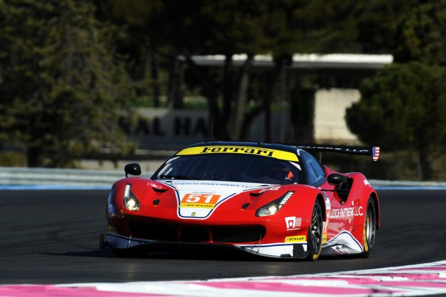 Luzich Racing's #51 Ferrari 488 GTE