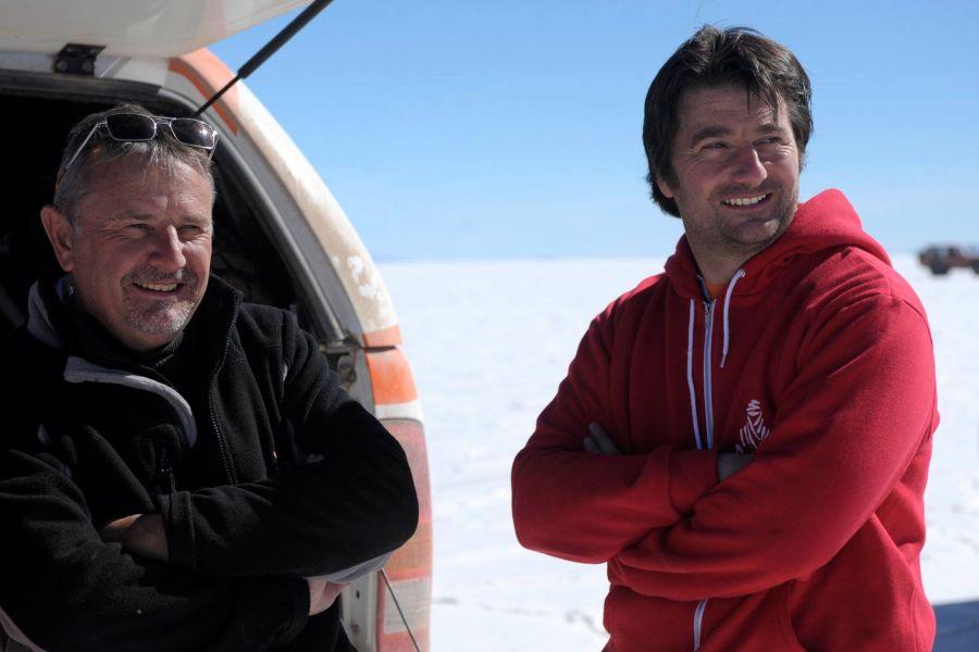 David Castera (right) succeeds Etienne Lavigne as Dakar Rally Director