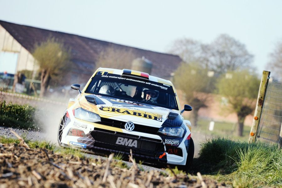Kris Princen in a Volkswagen Polo GTI R5 at TAC Rally