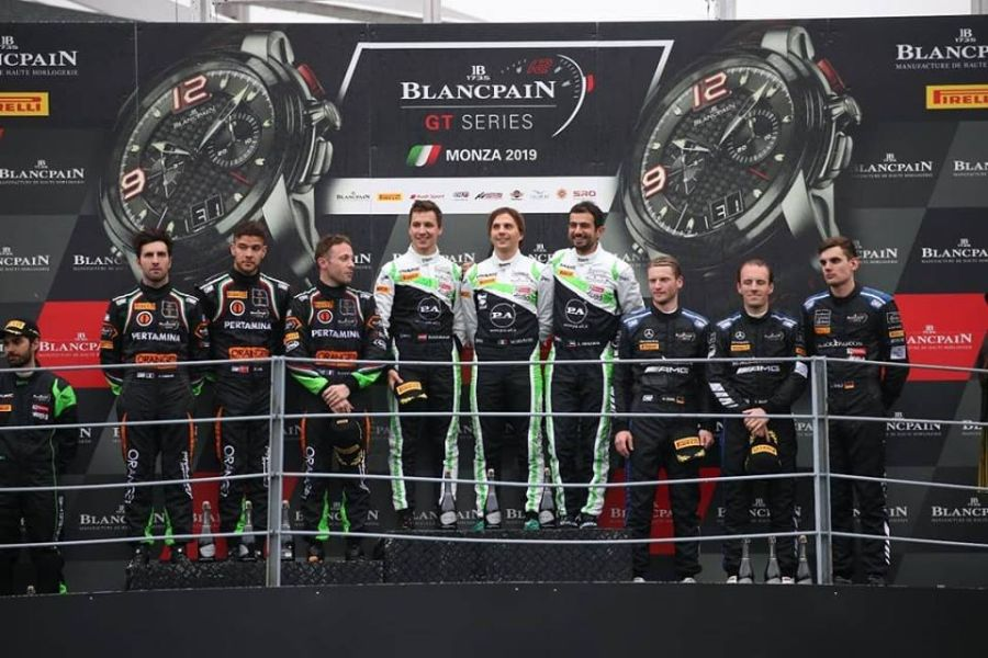 3 Hours of Monza podium