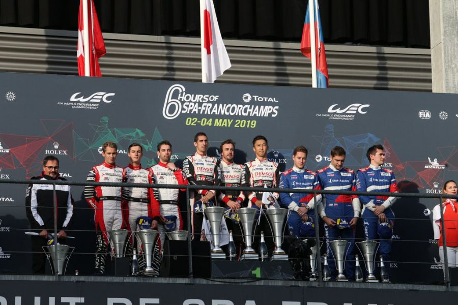 LMP1 class podium at Spa
