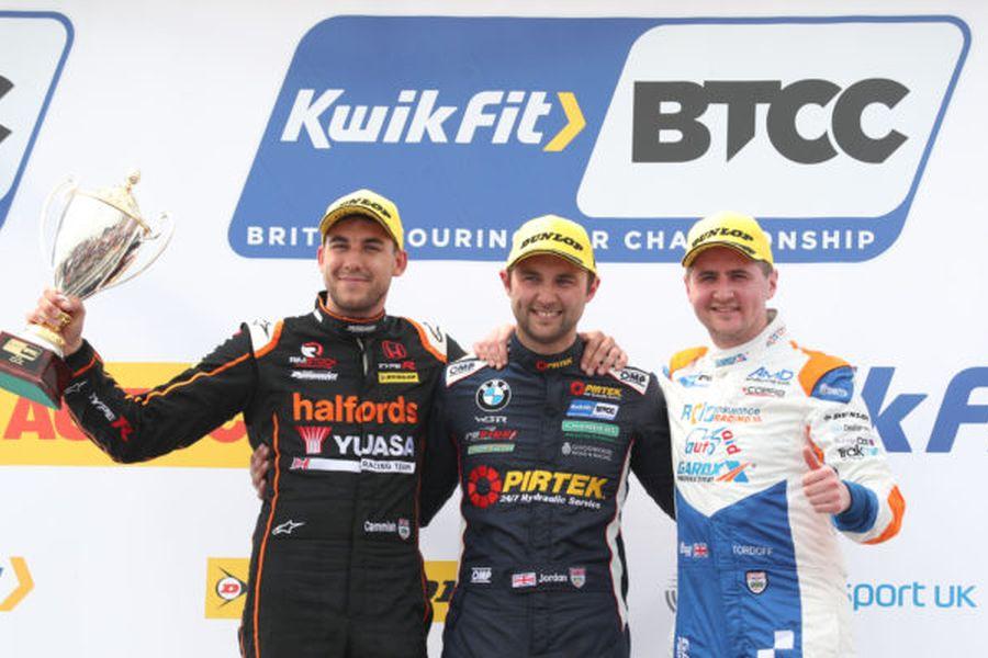 BTCC Thruxton R1 podium