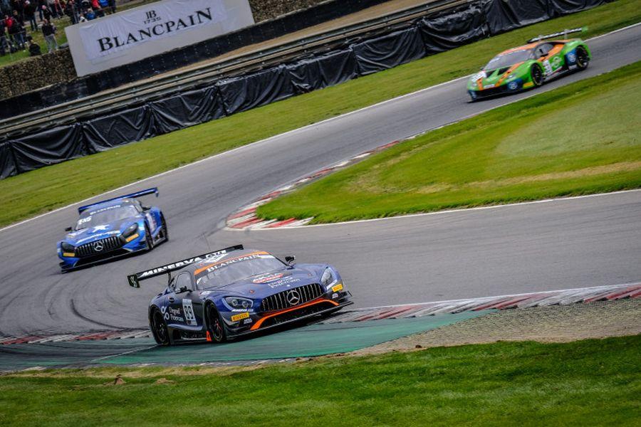 The #89 Akka ASP Mercedes of Nico Bastian and Thomas Neubauer