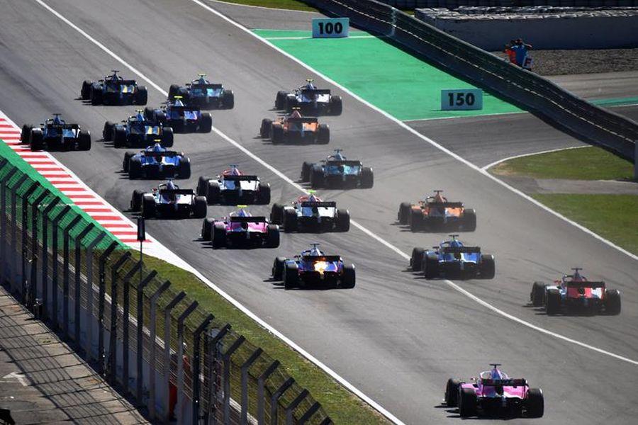 Formula 2 cars at Circuit de Barcelona-Catalunya