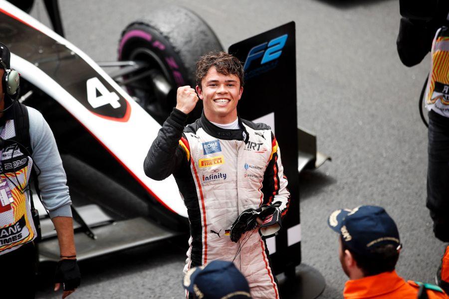 F2 Monaco Nyck De Vries win