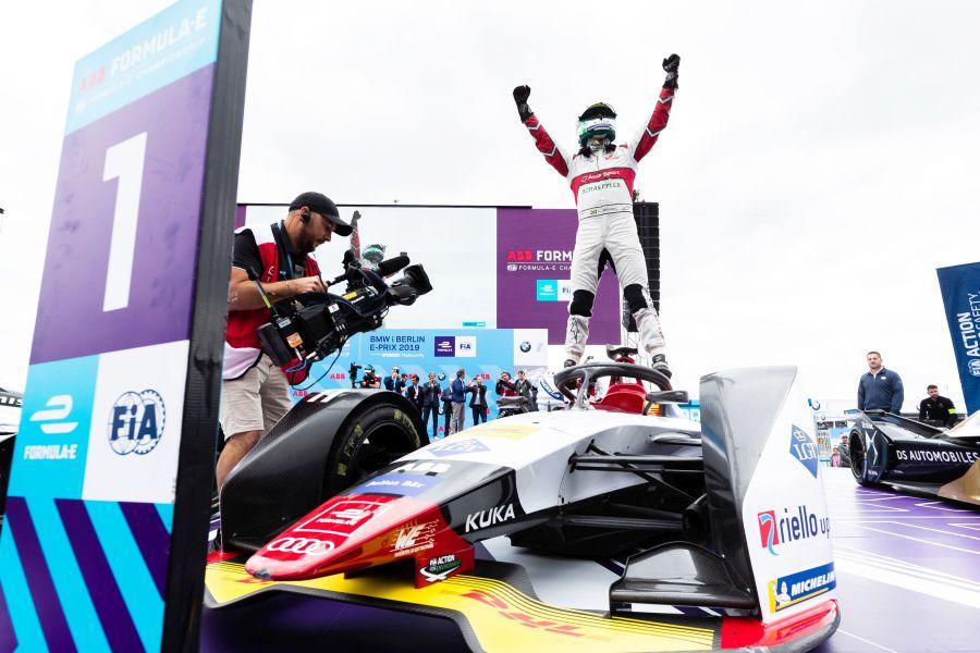 Lucas di Grassi celebrates his 10th Formula E victory