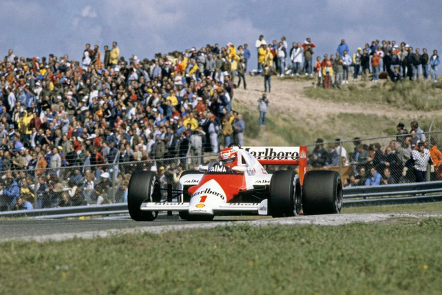 Niki Lauda in the #1 McLaren at 1985 Dutch Grand Prix