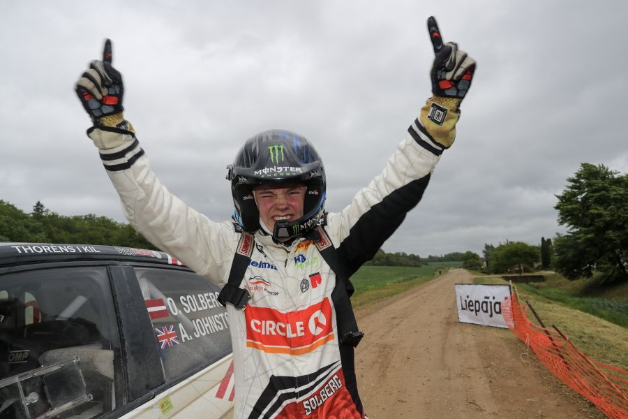 Oliver Solberg at Rally Liepaja