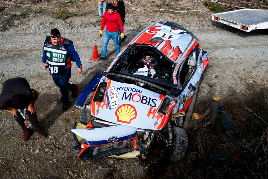 Rally Chile Neuville crash