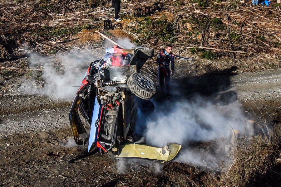WRC Rally Chile Thierry Neuville Hyundai crash